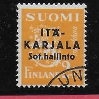 CARELIA - OCC. FINLANDESE - 1941 -2M SOPR. NERA (YVERT 3) - USATO - Finland
