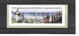 """????  **  """"LISA1""""  65e Assemblée Générale De Philapostel  Longeville-sur-Mer 2017  25/15 - 2010-... Vignette Illustrate"""