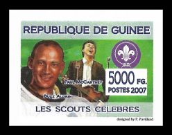 Guinee Buzz Aldrin Paul McCartney Beatles Scouts Logo Scouting 1v IMPERF Stamp - Non Classificati