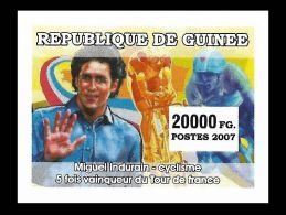 Guinee Miguel Induráin Spain Cyclist Cycling Cycle 1v IMPERF Stamp MNH - Non Classificati
