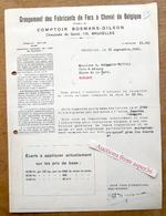 Groupement Des Fabricants De Fers à Cheval De Belgique, Comptoir Bosmans-Gilson, Chaussée De Gand, Bruxelles 1931 - Belgium