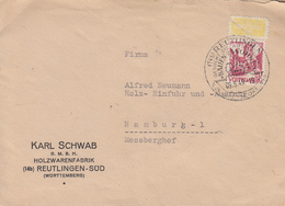 Enveloppe  WURTEMBERG   Oblitération  REUTLINGEN   1949 - Zone Française