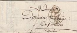 Lettre Entête Saunié Imprimeur Libraire Cachet AUXONNE Côte D'Or 27/9/1836 Taxe Manuscrite Pour Carpentras Vaucluse - Marcophilie (Lettres)