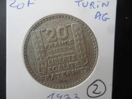 20 Francs Turin Argent 1933 TTB (2) - France