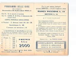 15365 GRUPPO TIRATORI A VOLO DI NAPOLI CAMPO TIRO AGNANO - PROGRAMMA DELLE GARE - PRESENTI BUCHI - Autres