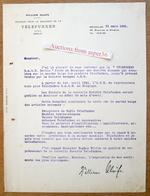 William Olufs, Délégué Pour La Belgique De La Telefunken, Boulevard De Waterloo, Bruxelles 1941 - Belgium