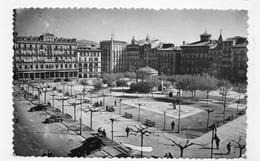 (RECTO / VERSO) PAMPLONA - N° 12 - PLAZA DEL CASTILLO AVEC KIOSQUE - FORMAT CPA VOYAGEE - Navarra (Pamplona)