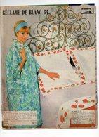 Libro Catalogue RECLAME DE BLANC  64  1964 -  LA REDOUTE Roubaix - Encyclopaedia
