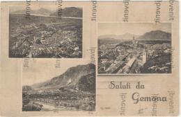 Saluti Da GEMONA Del FRIULI (UDINE) - 3 Vedute - Panorama (1933) - Udine