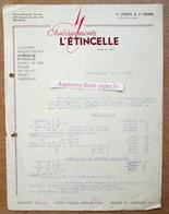 Couleurs & Produits Spéciaux, Ets L'Etincelle, A. Vindal & H. Henne, Chaussée De Jette, Bruxelles 1937 - Belgium