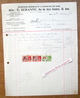 Entreprises Générales De La Décoration Sur Verre, E. Seranne, Twaalfkamerenstraat, Gent 1931 - Belgium