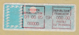 1985 Vignette De Démonstration - 1985 «Carrier» Paper
