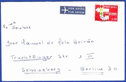Cover - Lisbon, Portugal To Berlin, Germany / Label - POR AVIÃO . PAR AVION / Cancel - Lisboa - Covers & Documents