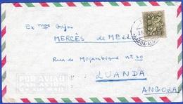 Cover - Lagoa, Portugal To Luanda, Angola / Cancel - Lagoa, Algarve . 1966 - Aéreo