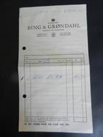 7b) DANIMARCA BING & GRONDAHL KOBENHAVN COPENHAGHEN 1964 - Fatture & Documenti Commerciali