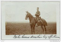PEER ..-- MILITARIA ..-- UNIFORME . Officier à Cheval . 1904 Vers GAND ( Melle M. BRICUSSE ) . Voir Verso . - Peer