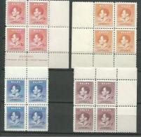 NAURU: **, N°33 à 36 En Blocs De 4 Ex., TB - Nauru