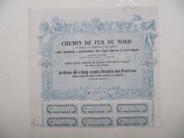 1 X Action De 500F - Chemin De Fer Du Nord - 1852 - Chemin De Fer & Tramway