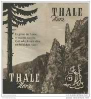 Thale Harz 50er Jahre - 12 Seiten Mit 20 Abbildungen - Saxe-Anhalt