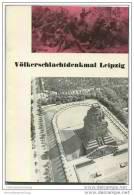 Leipzig 1975 - Völkerschlachtdenkmal - 60 Seiten Mit 37 Abbildungen - Saxe