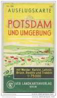 Potsdam Und Umgebung - Ausflugskarte 1:75000 - VEB Landkartenverlag Berlin - Brandenburg