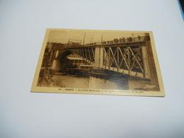 29 FINISTERE CARTE ANCIENNE EN NOIR ET BLANC  DE 1935 BREST LE PONT NATIONAL A 20 METRES AU DESSUS DE LA MER EDIT MOZAIS - Brest