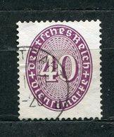 Deutsches Reich Dienst Nr.121 Y         O  Used         (3281) - Dienstpost