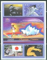 Maldives 2000, Olympic Games In Sidney, Tennis, Fencing, 4val In BF IMPERFORATED - Summer 2000: Sydney - Paralympic