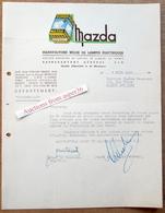 "Lampes ""Mazda"" Quai Fernand Demets, Bruxelles 1946 - Belgium"