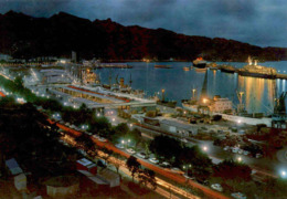 ÄLTERE POSTKARTE SANTA CRUZ TENERIFE PUERTO PORTO HAVEN Teneriffa Hafen Harbour Port Segelschiff Cargo Ship Postcard - Cargos