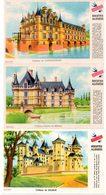 Lot De 3 Buvards Grégoire, Biscottes Allégées. Châteaux De Saumur, Azay Le Rideau, Chenonceaux. - Biscottes