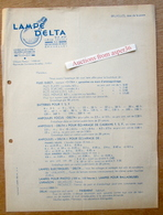 "Lampe ""Delta"" (usine à Lessines), Quai Aux Pierres-de-Taille, Bruxelles 1946 - Belgium"