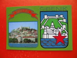 SAMOLEPLJIVE SLIKE OD VARDARA DO TRIGLAVA.Sticker/label Postcard.Sibenik - Croatie