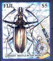 K32- Fiji 2003 Longest Beetle Insect Miniature Sheet. - Other