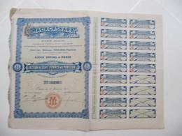 1 X Action - Madagaskara, Société Française De Commerce Colonial - Paris,1910 - Afrique