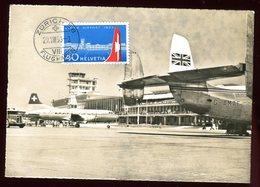 Suisse - Carte Maximum 1953 - Aéroport De Zurich - Maximumkarten (MC)