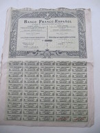 1 Action -  Banco Franco-Espanol - Madrid, 1907 - Banque & Assurance