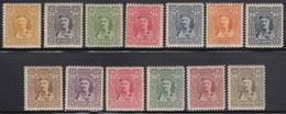 Principality Of Montenegro 1907 Prince Nikola I, Definitive Stamps, MH (*) Michel 61-72 - Montenegro