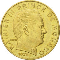 Monnaie, Monaco, Rainier III, 20 Centimes, 1978, TTB, Aluminum-Bronze - Monaco