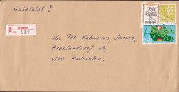 Denmark Registered Einschreiben Label MÅRSLET 1985 Cover Brief HADERSLEV Hadersleben 'Jydske Lov' Chr. V. Bonn Erklärung - Briefe U. Dokumente