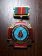 Soviet Union USSR Badge Medal Liquidators Of The Chernobyl Nuclear Power Plant Accident - Russia