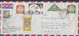 Kuwait Air Mail SIEMENS Schuckertwerke FAHAHELL 1965 Cover Brief Mult. Franked Many Stamps !! - Kuwait