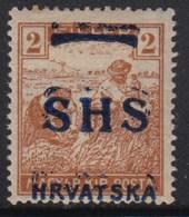 Yugoslavia - SHS - Issue For Croatia 1918 Definitive, Error - Double Overprint, MH (*) Michel 66 - Croatie