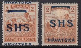 Yugoslavia - SHS - Issue For Croatia 1918 Definitive, Error - Moved Overprint, MH (*) Michel 66 - Croatie