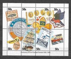 #B122# TONGA YVERT BF 8 MNH** STAMP ON STAMP. - Tonga (1970-...)
