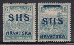Yugoslavia - SHS - Issue For Croatia 1918 Definitive, Error - Moved Overprint, MH (*) Michel 69 - Croatie