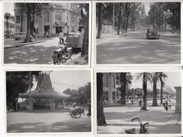 12 Photographies 1960 Phnom-Penh Course De Karting Monument Marché Rue Ohier Avec Voiture Citröen 2cv Indochine Cambodge - Cambodge