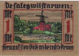 Deutschland Notgeld 1 Mark Mehl782.1 LEER /09M/ - Lokale Ausgaben