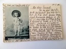 CPA.- 1900 - Kind Met Een Pijp , Afstempelingen BOUWEL Et PARIS, Amoureux De 1900 - NO REPRO - Femmes