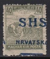 Yugoslavia - SHS - Issue For Croatia 1918 Definitive, Error - Moved Overprint, MH (*) Michel 75 - Croatie
